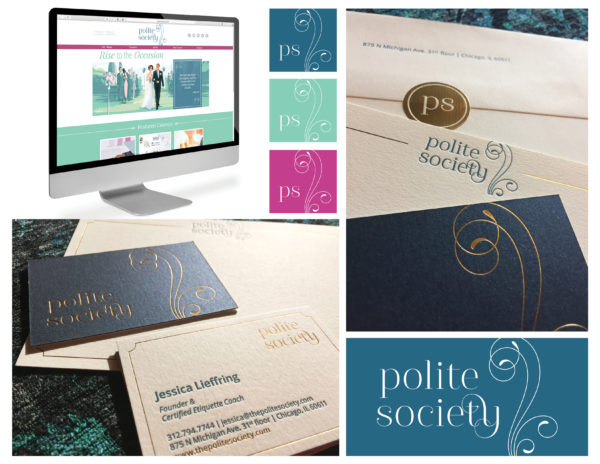 Polite Society's stationary displayed for the competition.